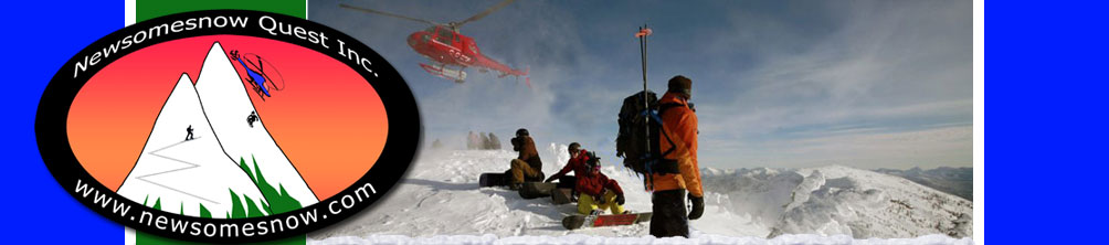 Welcome to Newsomesnow Quest Inc, snowboard guiding, BC and Alaska
